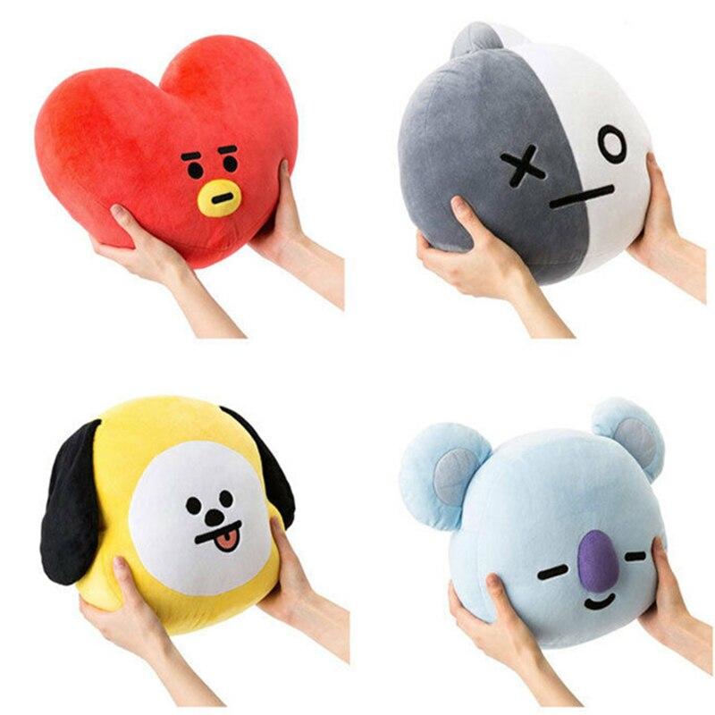 Kpop Plush Toys Lovely Animal figure Pillow Dog Rabbit Koala Sheep Horse Stuffed Doll Soft Sofa accessories Exquisite gift Totor